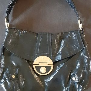 Elliot Lucca Black Patent Shoulderbag Handbag + 1